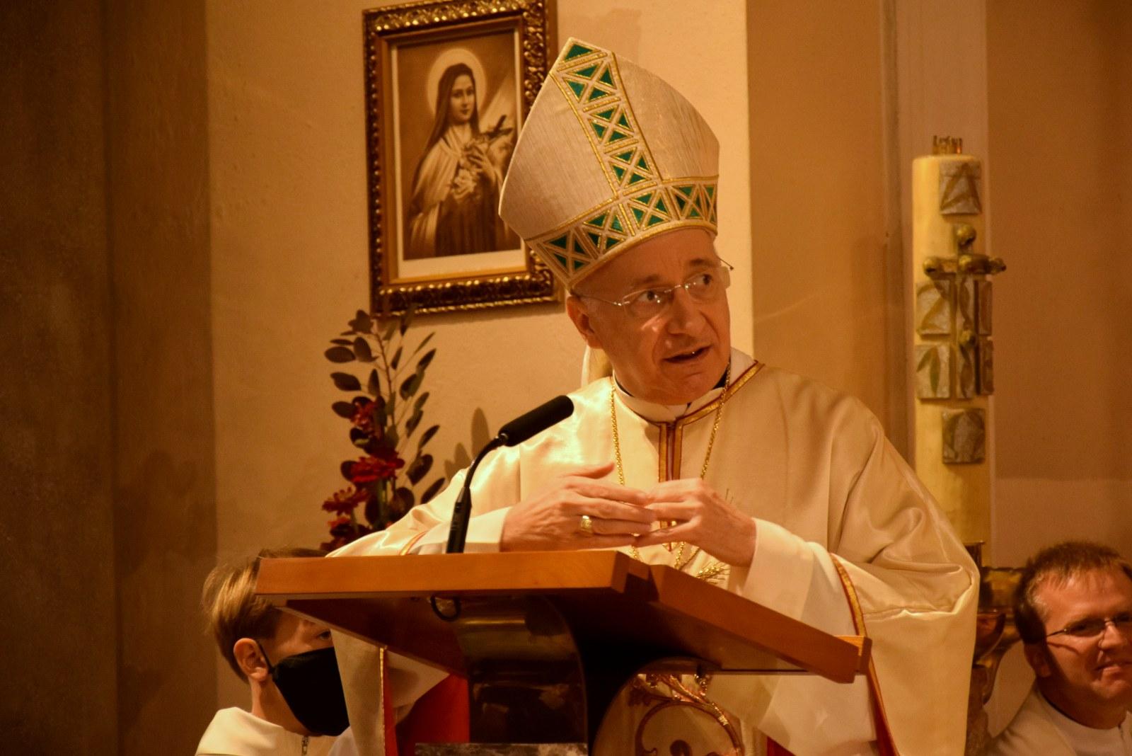 Aspostolski nuncij v Preski na žegnanjsko nedeljo